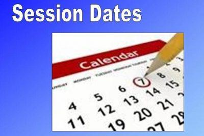 Session Dates 2016 - 2017